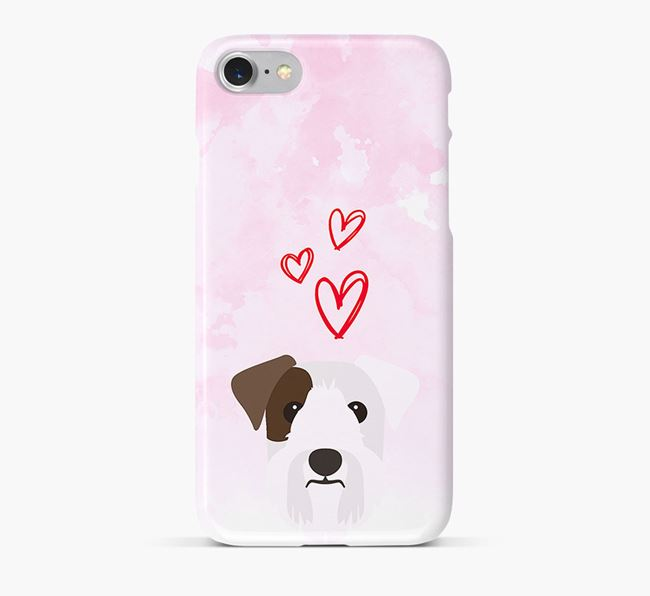 Phone Case with Sealyham Terrier Icon & Hearts