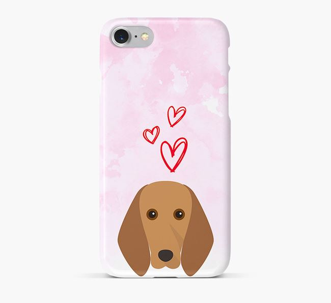 Phone Case with Segugio Italiano Icon & Hearts