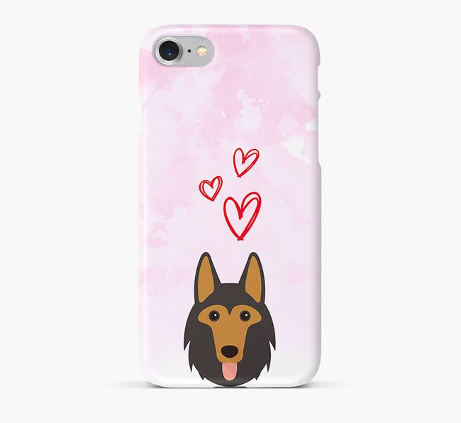 Phone Case with Shollie Icon & Hearts