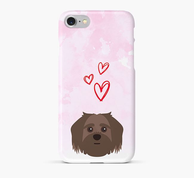 Phone Case with Shorkie Icon & Hearts