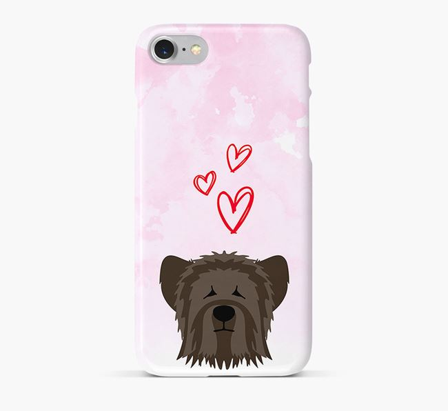 Phone Case with Skye Terrier Icon & Hearts