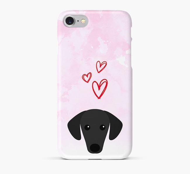 Phone Case with Sloughi Icon & Hearts