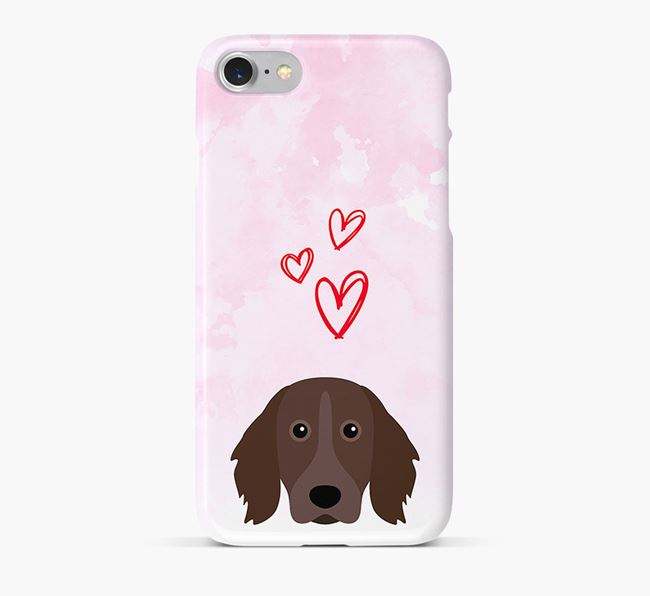Phone Case with Munsterlander Icon & Hearts