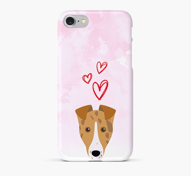 Phone Case with Collie Icon & Hearts