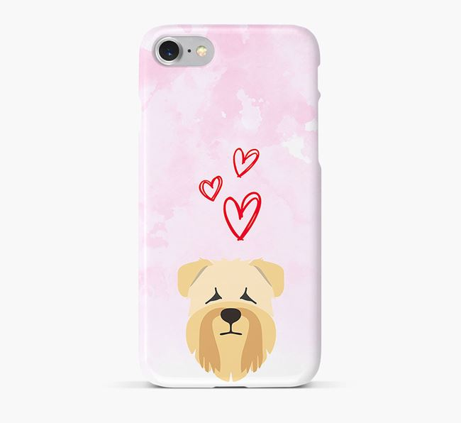 Phone Case with Wheaten Terrier Icon & Hearts
