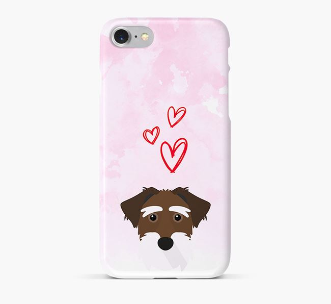 Phone Case with Lucas Terrier Icon & Hearts