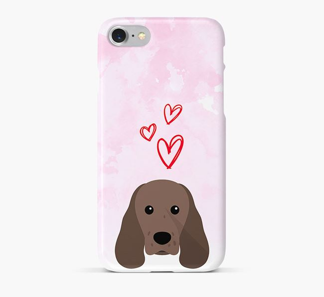 Phone Case with Sprocker Icon & Hearts