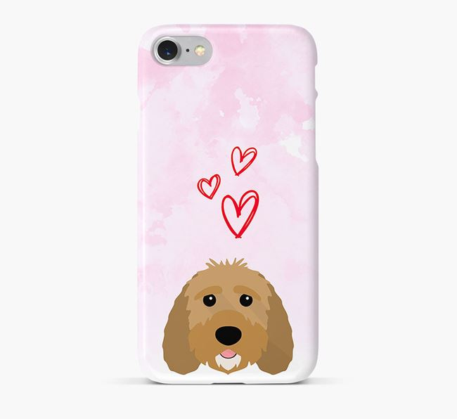 Phone Case with Sproodle Icon & Hearts