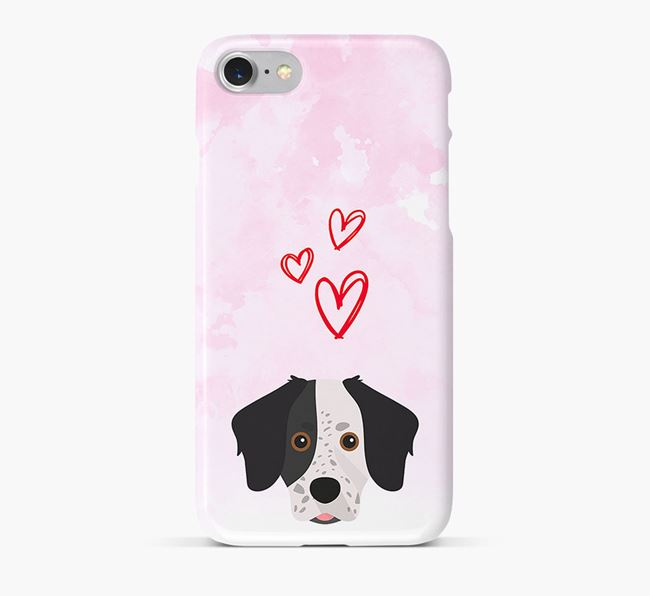 Phone Case with Stabyhoun Icon & Hearts