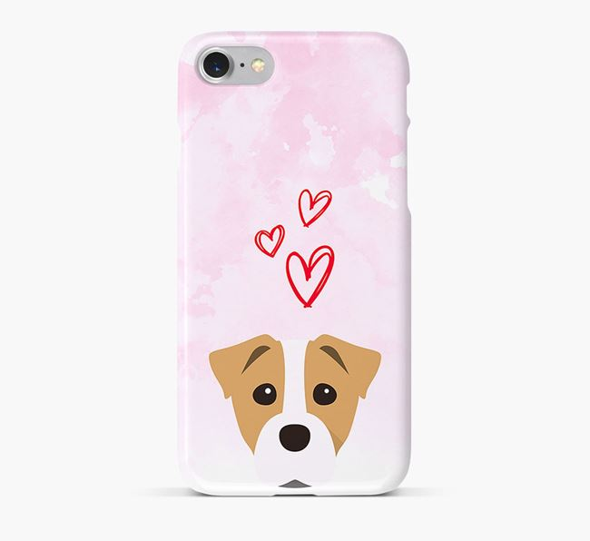 Phone Case with Staffy Jack Icon & Hearts