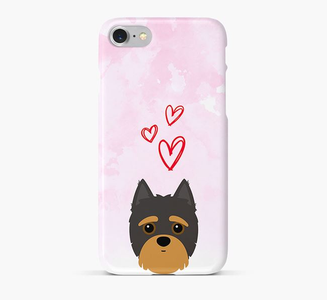Phone Case with Yorkipoo Icon & Hearts