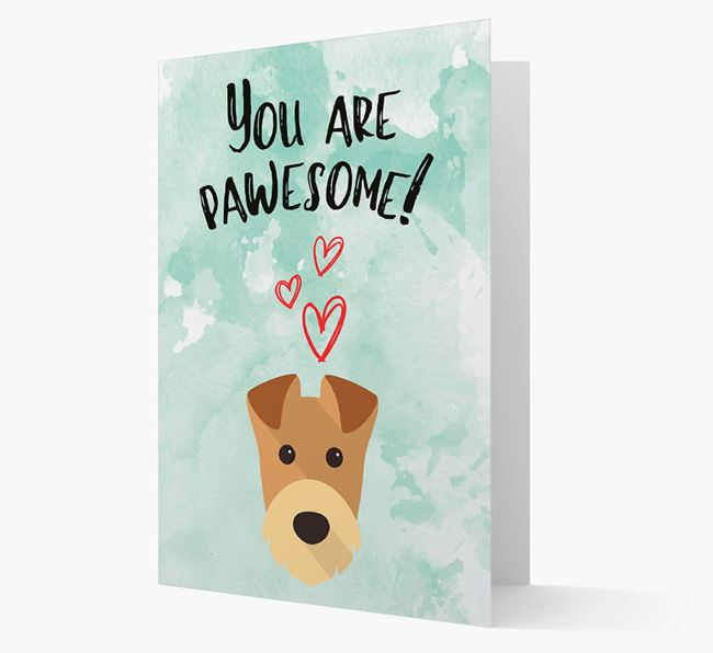 'You are pawesome!' Card with Airedale Icon