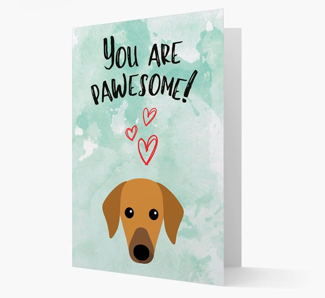 'You are pawesome!' Card with Azawakh Icon