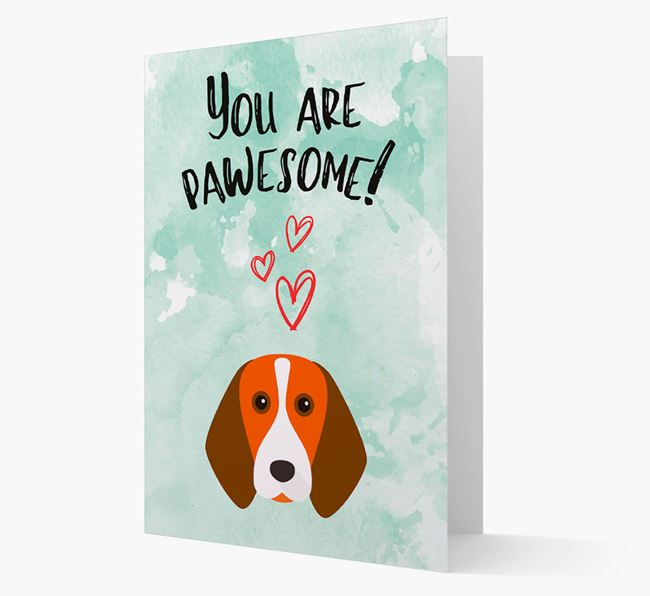'You are pawesome!' Card with Beagle Icon