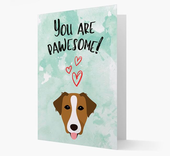 'You are pawesome!' Card with Borador Icon