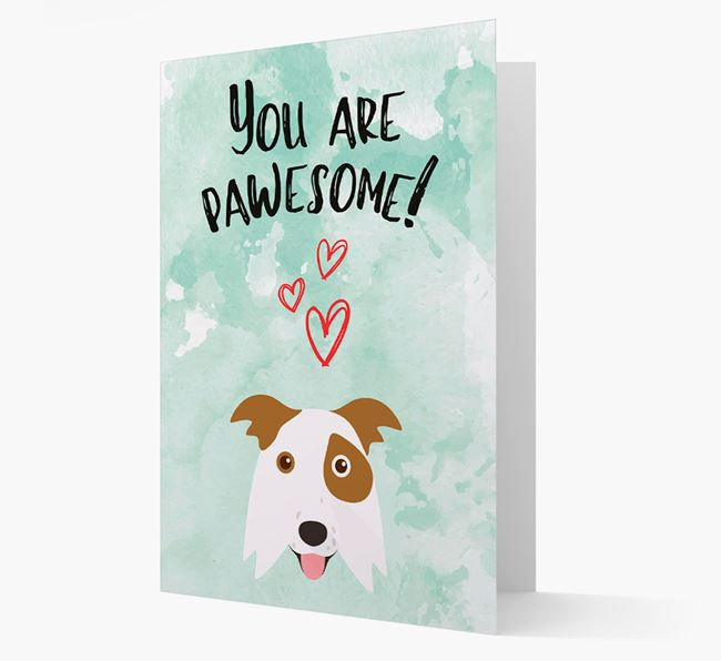 'You are pawesome!' Card with Border Collie Icon