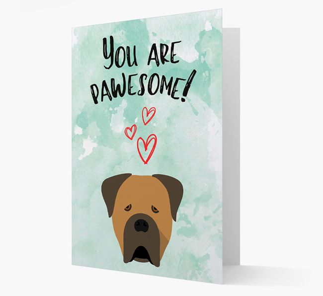 'You are pawesome!' Card with Cane Corso Icon