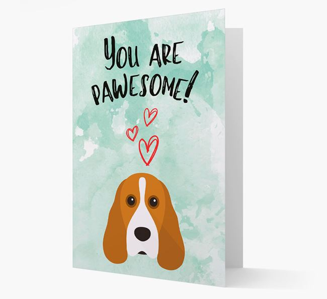 'You are pawesome!' Card with Cocker Spaniel Icon