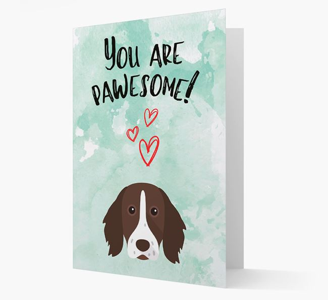 'You are pawesome!' Card with Longhaired Pointer Icon
