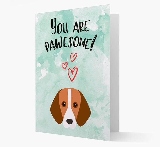 'You are pawesome!' Card with Harrier Icon