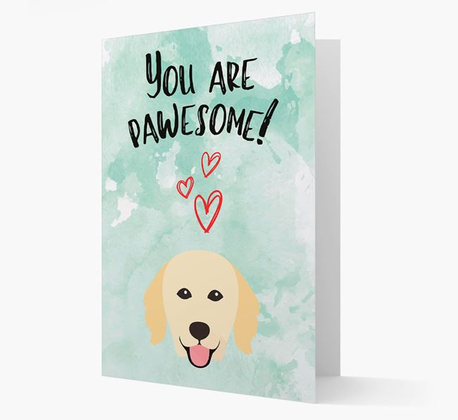 'You are pawesome!' Card with Hovawart Icon