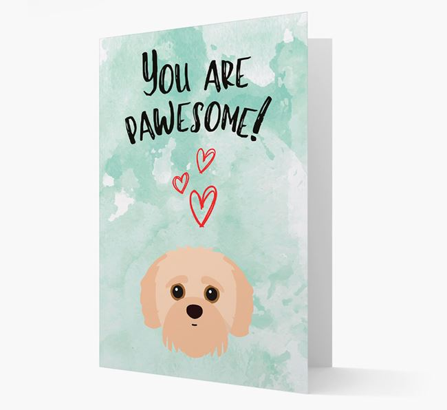 'You are pawesome!' Card with Jack-a-Poo Icon