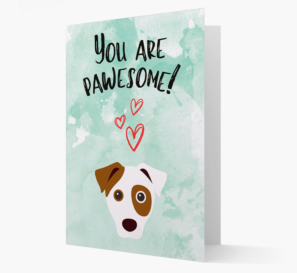 Card 'You are pawesome!' with Dog Icon