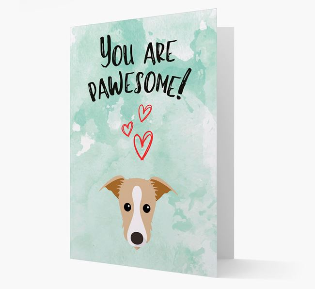 'You are pawesome!' Card with Lurcher Icon