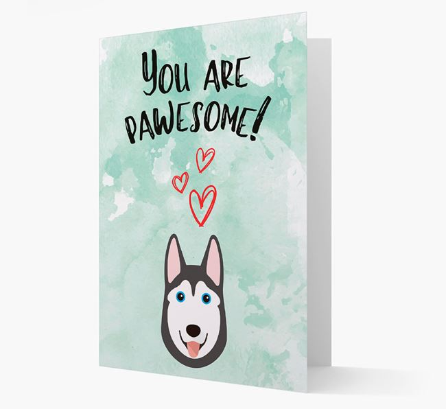 'You are pawesome!' Card with Dog Icon