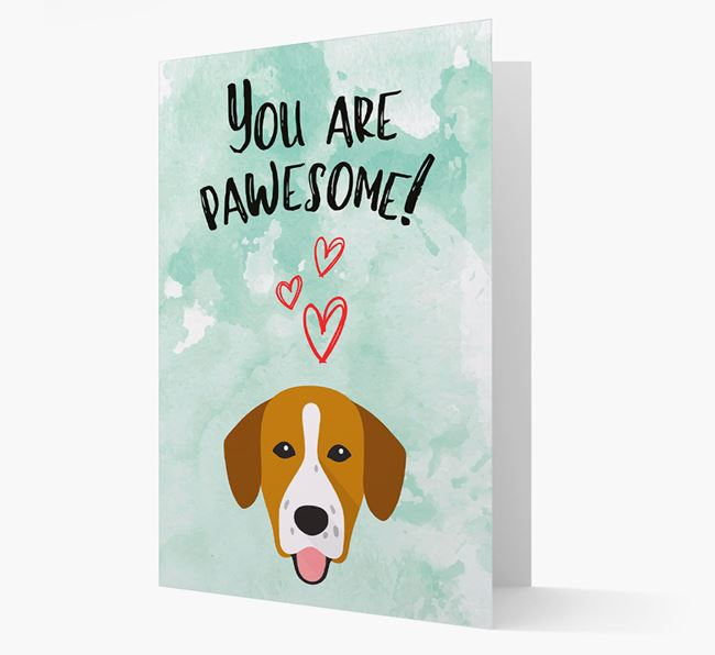 'You are pawesome!' Card with Springador Icon