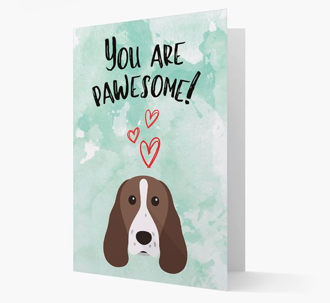 'You are pawesome!' Card with Springer Spaniel Icon