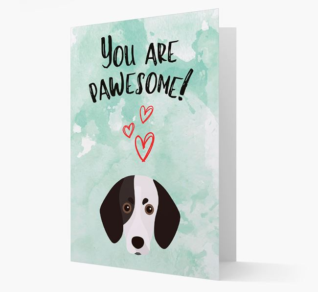 'You are pawesome!' Card with Trailhound Icon