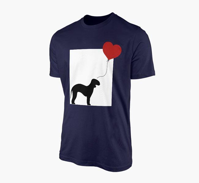 'Heart Balloon' - Personalised Bedlington Terrier Adult T-Shirt