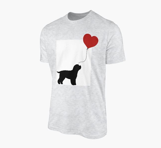 'Heart Balloon' - Personalised Cavapoo Adult T-Shirt