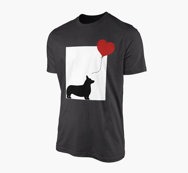 'Heart Balloon' - Personalised Corgi Adult T-Shirt
