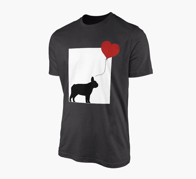 'Heart Balloon' - Personalised French Bulldog Adult T-Shirt