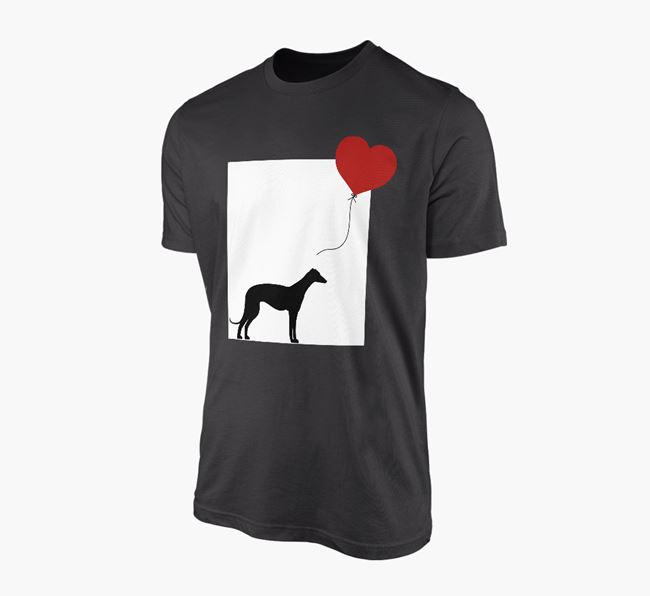 'Heart Balloon' - Personalised Greyhound Adult T-Shirt