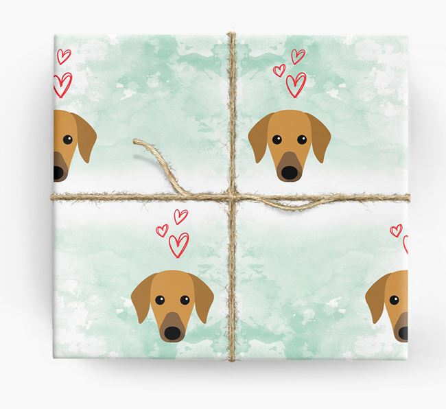 Azawakh Icons & Hearts Wrapping Paper