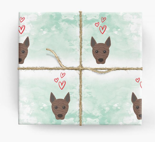 Basenji Icons & Hearts Wrapping Paper