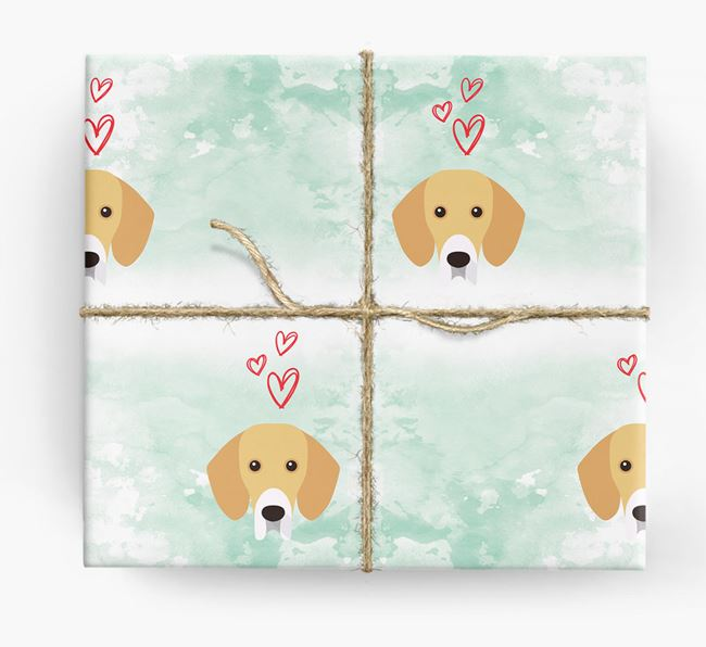Bassador Icons & Hearts Wrapping Paper