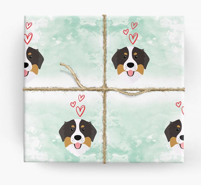 Bernese Icons & Hearts Wrapping Paper