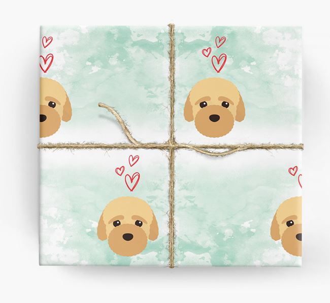Bich-poo Icons & Hearts Wrapping Paper