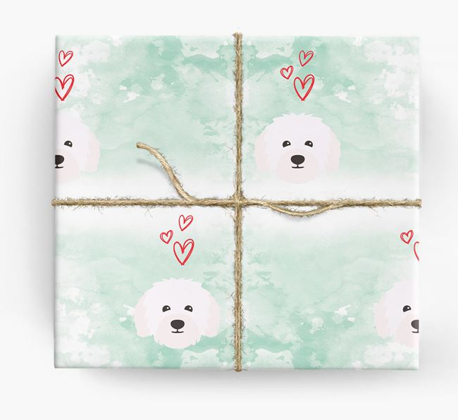 Bolognese Icons & Hearts Wrapping Paper
