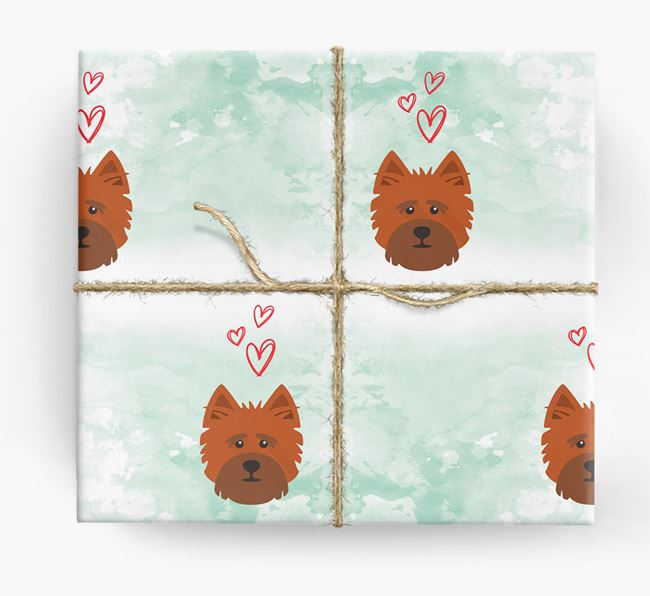 Cairn Terrier Icons & Hearts Wrapping Paper