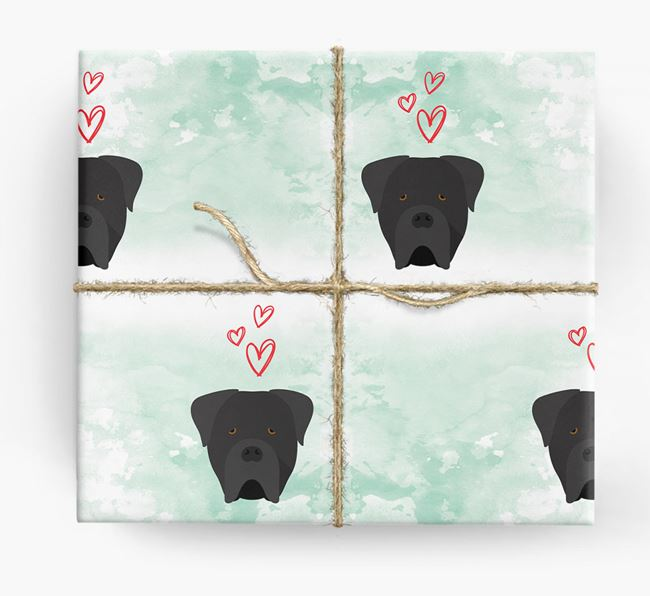Cane Corso Icons & Hearts Wrapping Paper