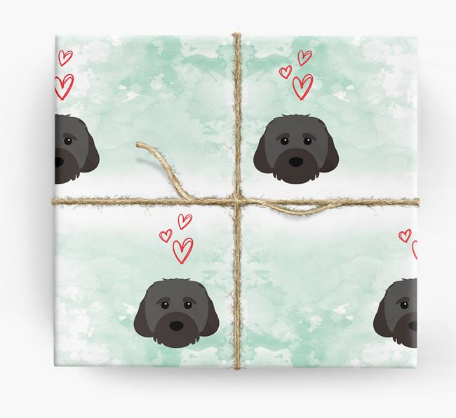 Cavachon Icons & Hearts Wrapping Paper
