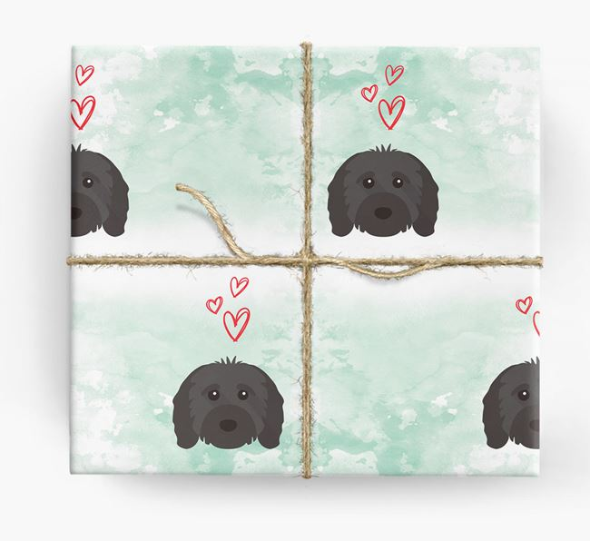 Cavapoo Icons & Hearts Wrapping Paper