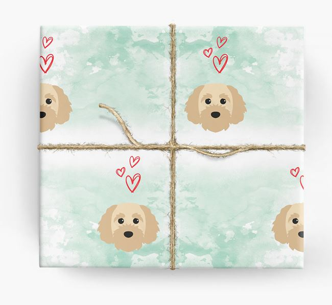 Cavapoochon Icons & Hearts Wrapping Paper