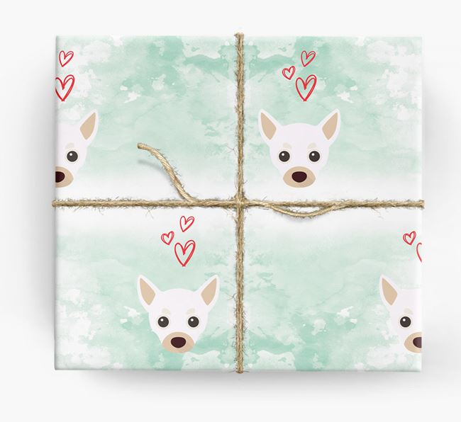 Chihuahua Icons & Hearts Wrapping Paper