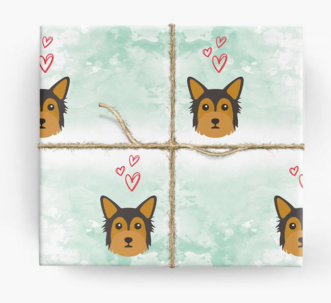 Chorkie Icons & Hearts Wrapping Paper